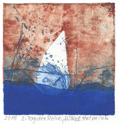 Hilke E. Helmich : «Tag der Reise – stürmisches Meer»