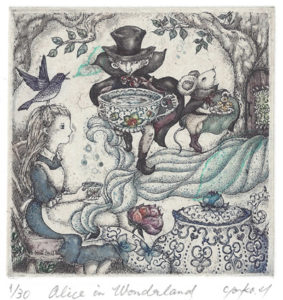 Yoko Hayashi : «Alice in Wonderland: Uncanny tea party»